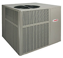 Residential Packaged Unit, Dual-Fuel Heat Pump, 2 Ton, 14 SEER, R-410A, 72,000 Btuh, 81% AFUE, LRP14DF24-072P