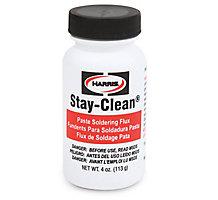 Harris SCPF4 Stay-Clean Paste Soldering Flux, 4 oz. 1 Brush Cap Bottle