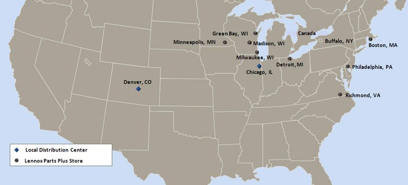 Boiler Parts stocked around the United States