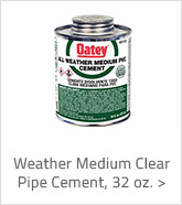 Weather Medium Clear Pipe Cement