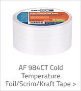 AF 984CT Cold Temperature Foil Scrim Kraft Tape