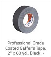 Professional Grade Coated Gaffer's Tape Black