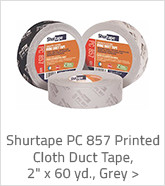 Shurtape PC 857 Printed Cloth Udct Tape Grey