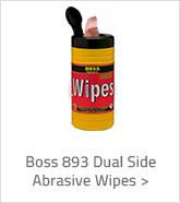 Boss 893 Dual Side Abrasive Wipes