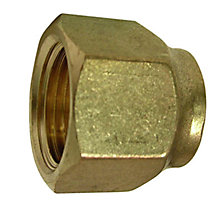 COPPER FLARE NUT 3/8 SHORT FORGED