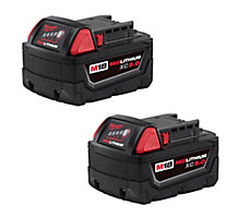 Milwaukee 48-11-1852 M18 REDLITHIUM XC5.0 Extended Capacity Battery, 2 Pack