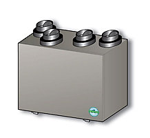 Healthy Climate HRV3-150-TPD Heat Recovery Ventilator, Single Core, Top Port Damper Defrost