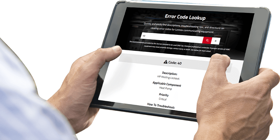 The New Error Code Lookup Tool | LennoxPROs com