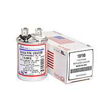 Run Capacitor, Made in USA, 7.5 MFD, 440V, Round