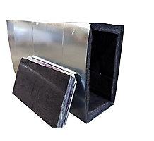 """McDaniel Metals Return Plenum, 20-3/8 x 19-1/4 x 24 with 1/2"""" Flange, R8"""