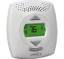 Comfort Sensor - Temperature Relative Humidity Display Setpoint/Fan Control After-Hours Override Button
