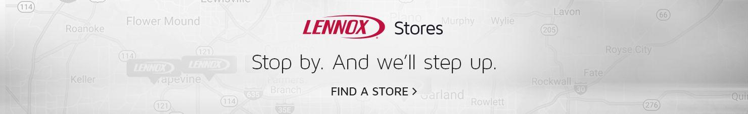 Banner advertising for Lennox Stores