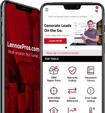 LennoxPros mobile app