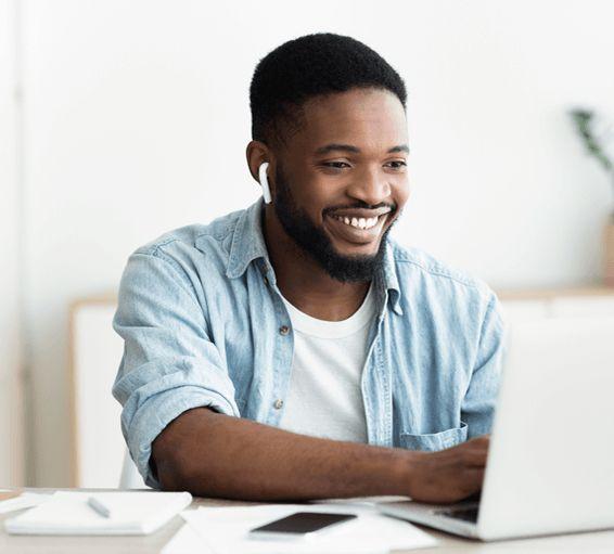 A service tech watching the Buildatech courses virtually