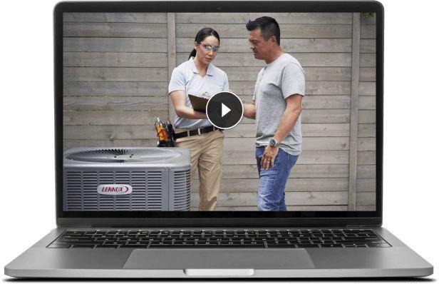 Laptop showing the virtual aspect of the Virtual Buildatech program