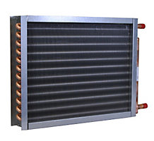 Magic Aire SHW2417, Space Heating Water Coil, 2 Rows, Face Area 4.17, Coil Connection 1-1/8 O.D.