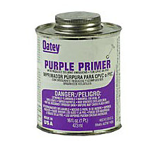 Oatey 0333, Purple Pipe Primer, 8 oz.
