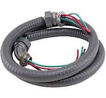 "Diversitech DiversiWhips 6-12-4 Metallic Whip, 1/2"" x 4', 10 GA THHN Wire"