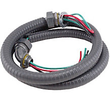 "DiversiWhips 6-34-4 Metallic Whip, 3/4"" x 4', 8 GA THHN Wire"