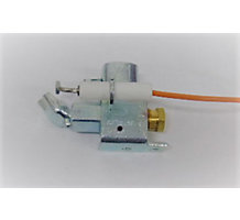"Pilot Burner w/Electrode Used with Intermittent/Standing Pilot Ignition Systems, 0.02"" Size, L Shape Bracket"