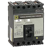 31K5501, Circuit Breaker, 3 Pole, 15A, 480V, 50/60 Hz, Molded Case