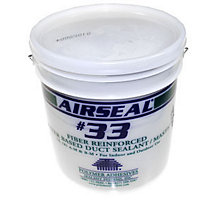 Polymer Adhesives S33-1, Airseal 33 Fiber Reinforced Duct Sealant, 1 gal.