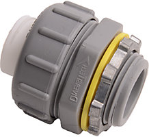 "Liquid Tite, 3/4"" Non-Metallic Straight Connector, UV Rated"