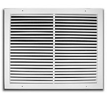 270 Series 24X10 2-Way Fixed Bar Return Air Grille, White Powder Coat Finish, Steel