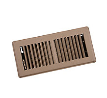 150 Series 04X10 2-Way Stamped Face Floor Register Grill with Multi-Shutter Damper, Brown