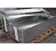 22 Gauge Galvanized Steel Metals Welded Drain Pans, 32 x 36