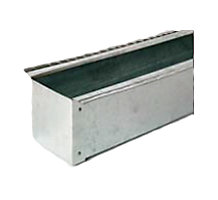 "Refrigerant Line Cover Flat Cap, 4"" x 4"" x 4"", 8' Length, 26 Gauge"