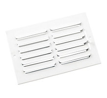 401 Series 10X06 1-Way Stamped Curved Blade Register with Multi-Shutter Damper, Steel