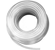"3/4"" Clear Vinyl Tubing 19 PSI 100' Length 0.890 O.D"