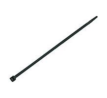 """Bramec 13730 11"""" Black Standard Cable Ties, 100 Pack"""