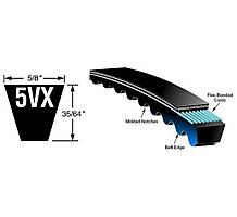 "Gates 9012-2053 Tri-Power V Belt, AX53, 55.2"" O.C."