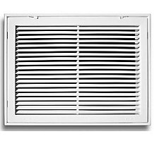 290 Series 30X20 Fixed Bar Return Air Grille, White Powder Coat Finish, Steel