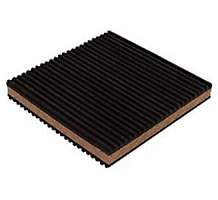 "3"" x 3"" x 7/8"" Cork/Rubber Anti-Vibration Pad"