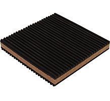 "Diversitech MP-4C Rubber/Cork Anti-Vibration Pad, 4""x4""x7/8"""
