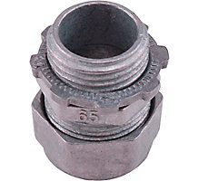 """Compression Type Connectors"""" 1/2"""" Trade Size 1/2"""" Knockout"""" 8/Pack"""" Use to Join EMT Conduit to Boxes on Enclosures"""