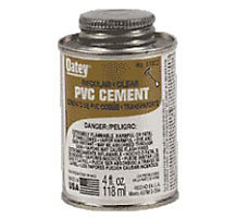 Oatey 0322, Regular Clear  Pipe Cement, 16 oz.