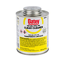 Oatey 30795, Clear Cleaner, 16 oz.