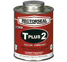 Rectorseal 23551, T PLUS 2 Pipe Thread Sealant, 1/2 pt.