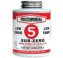 Rectorseal 27651, No. 5 Sub-Zero Low Temperature Pipe Thread Sealant, 1/2 pt.