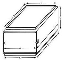 "E-Z Filter Base DFA300 17-1/2"" x 21"" x 12"" Downflow Furnace Filter Box Requires 3 10"" x 20"" x 1"" Filters"