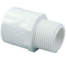"""1/2"""" PVC Male Adapter Schedule 40"""" MIPT x Slip"""