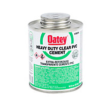 Oatey 30876 PVC Heavy Duty Clear Cement, 16 oz.