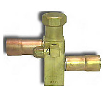 "Refrigeration Service Frontseating Square Valve, 11/16"" Square Stock, 3/8"" Field / Factory Connection Size"