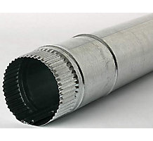 "Snap Lock Pipe, 7"" Dia, 5' Length, 26 Gauge"