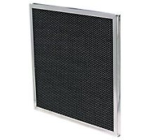 "Healthy Climate F825-046700S1 16"" x 13"" x 1/2"" Charcoal Filter with Mounting Clips for EAC-1400"