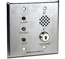 Remote Alarm With Pilot, Trouble, Key And Horn For Double Gang Box